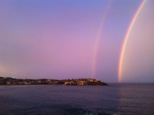 This rainbow greeted me at Bondi Beach last week. Not the only rainbow i've encountered on this trip.