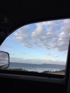 Waking up in the van to this Surf Coast view gladdens the heart.