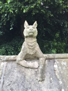 The walls of Bute Park, beside Cardiff Castle, are decorated with stone animals. Hard not to pat them.