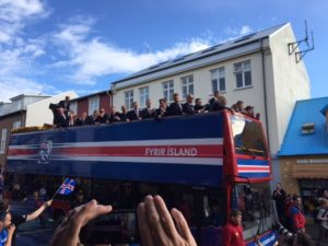 I arrived in town the night the Icelandic soccer team came home to an anti-hero's welcome, after the European Cup.