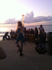 Hippies dancing on the Byron Bay foreshore. Twas ever thus.