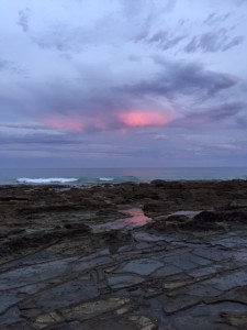 Pink things began appearing everywhere - starting with this Wye River sunset.