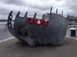 I found this public artwork in Cardiff Bay very moving.